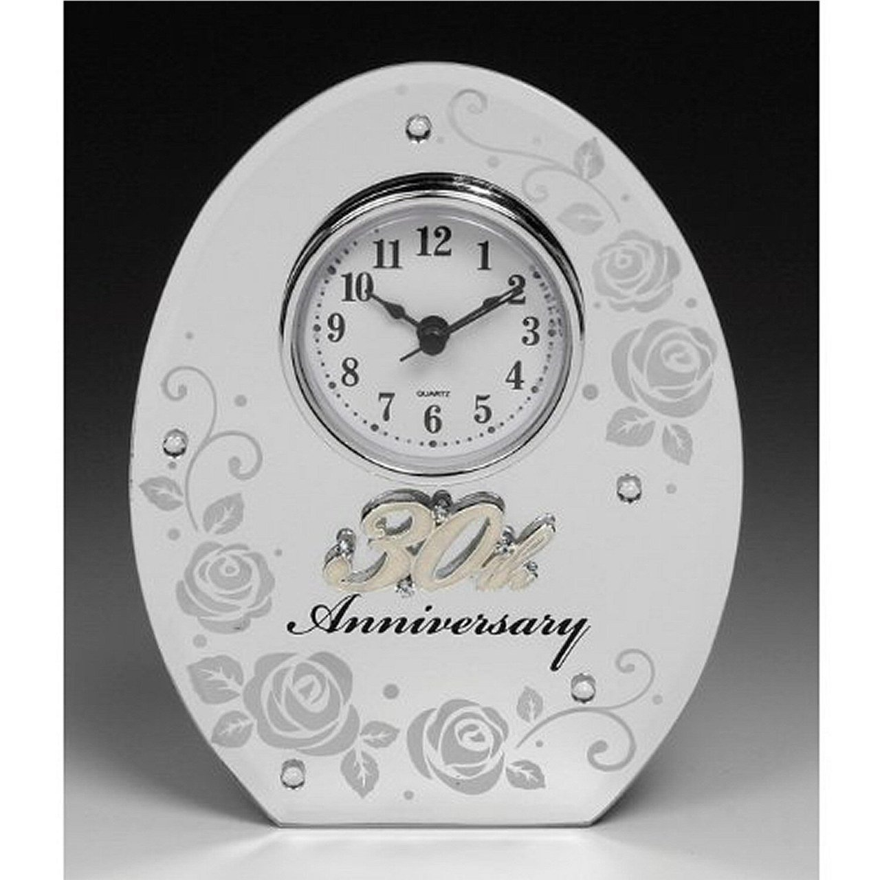 30th Wedding Anniversary Clock Perfect Gift