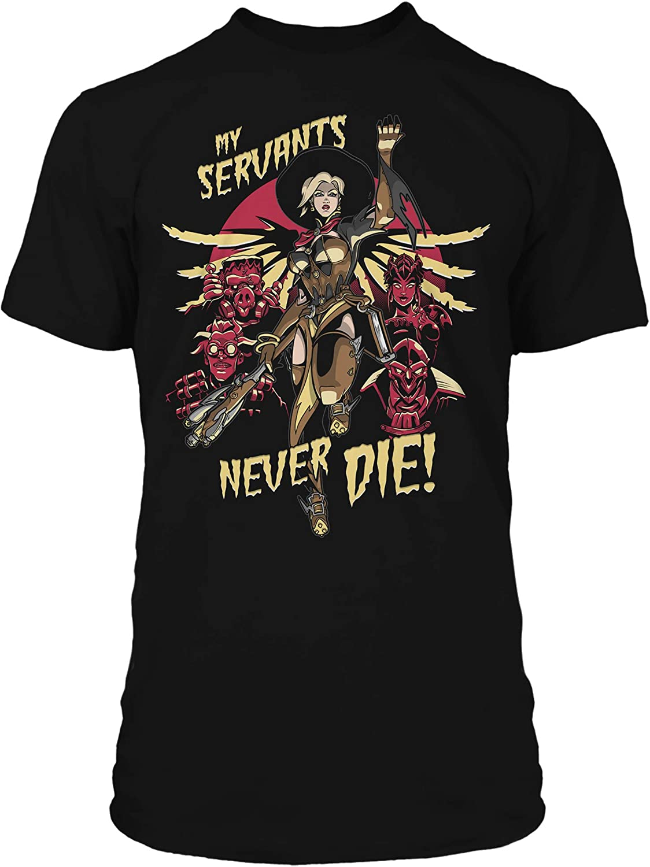 J!NX Overwatch Premium T-Shirt Mercy Witch Size XL Shirts