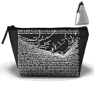 The Raven By Edgar Allan Poe Cute Trip Toiletry Bag Trapezoidal Zipper Receive Bag Travel Fashion