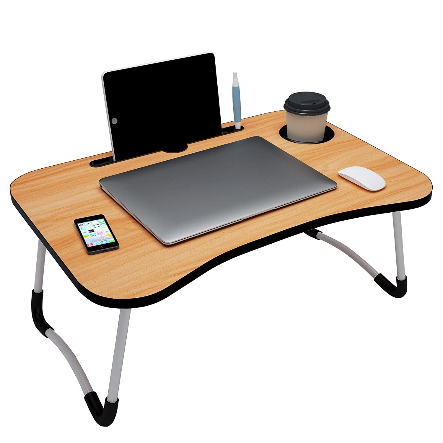 tory@Home Foldable Multifunction Bed Table for Laptop and Study