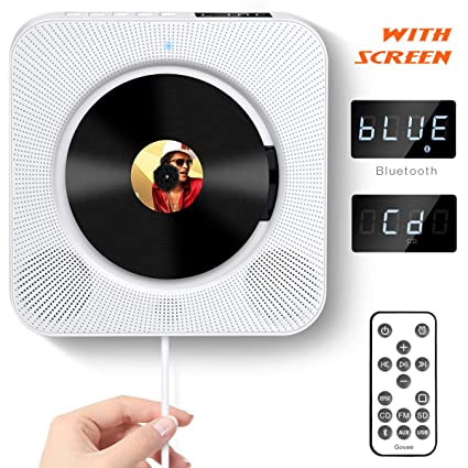 Charmant CD Player With Bluetooth, Govee Portable CD Player With Remote Control Wall  Mountable CD Player