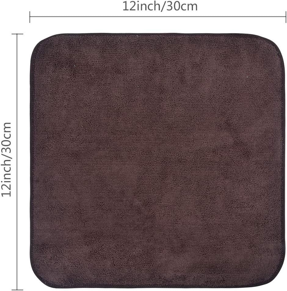 para lavar los platos Gris ba/ño de la cocina del hogar limpieza 30 cm x 30 cm VIVOTE Paquete de 8 pa/ños de microfibra con costado de malla de polietileno