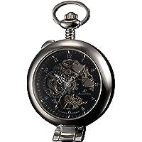 KS Half Hunter Men's Hand Wind Mechanical Pocket Watch
