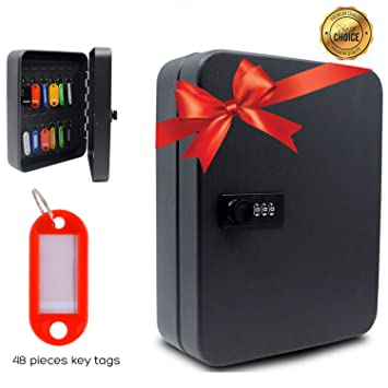 Amazon.com: Caja de seguridad de acero con 48 llaves ...