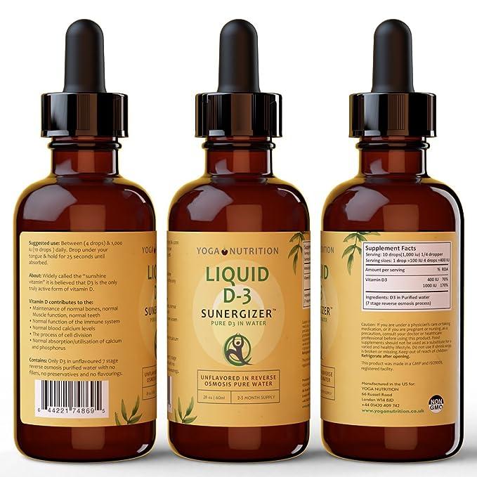 Vitamina Líquida D3 SUNERGIZER 60ml La vitamina del sol en ...