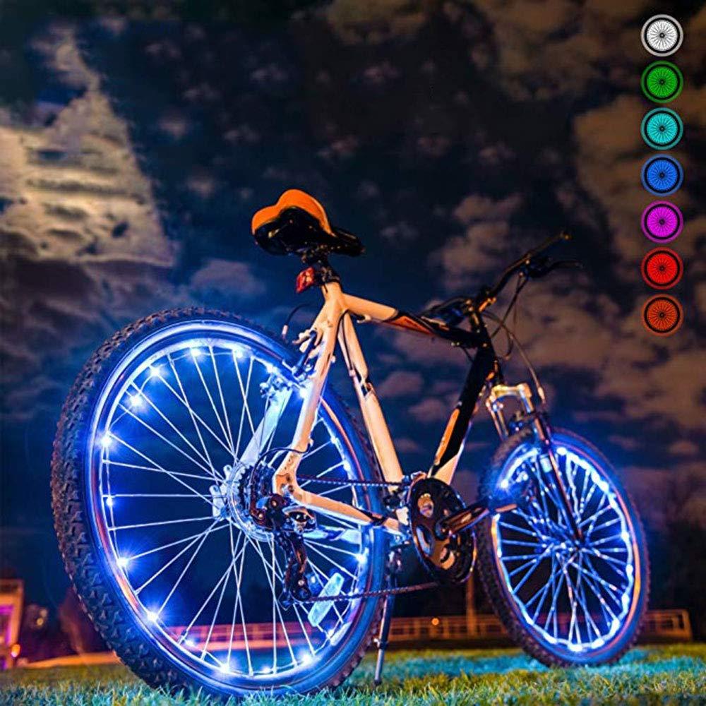 LED Luces de Bicicleta Rueda de  Luz de Bicicleta Nocturna Ultra Brillante Luces de Bicicleta 32 Cambios de Color Diferentes CAFFER