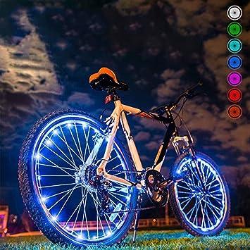 LED Luces de Bicicleta Rueda de| Luz de Bicicleta Nocturna Ultra Brillante Luces de Bicicleta 32 Cambios de Color Diferentes: Amazon.es: Deportes y aire ...