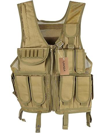 Lixada Maglia per Tattico Militare Esercito Poliestere Airsoft Gilet da  Caccia per all Aperto Campeggio a54adf667b7