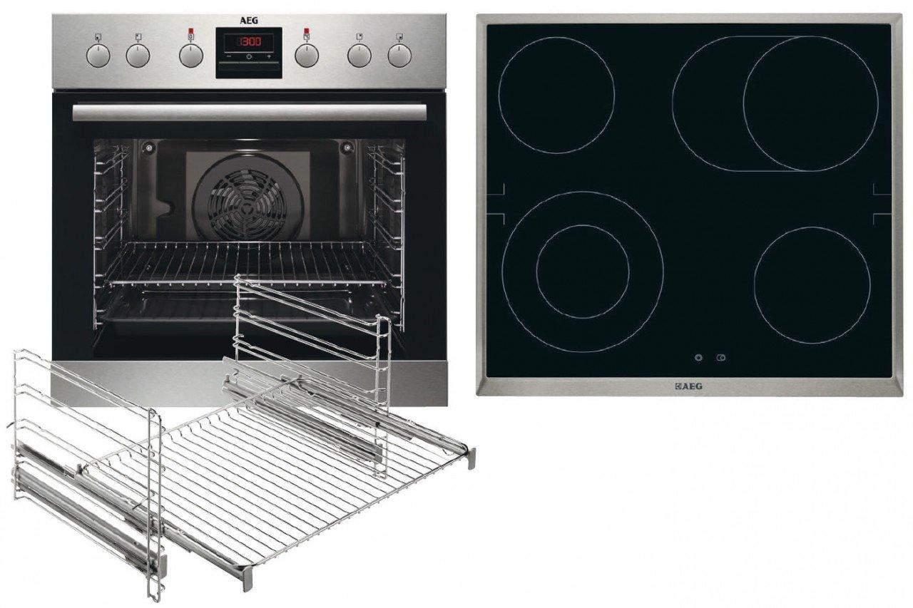 AEG Kombi 3020 Cerámico Horno eléctrico sets de electrodoméstico ...