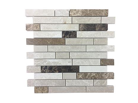 Pietra naturale di mosaico tessere di mosaico in marmo lucido
