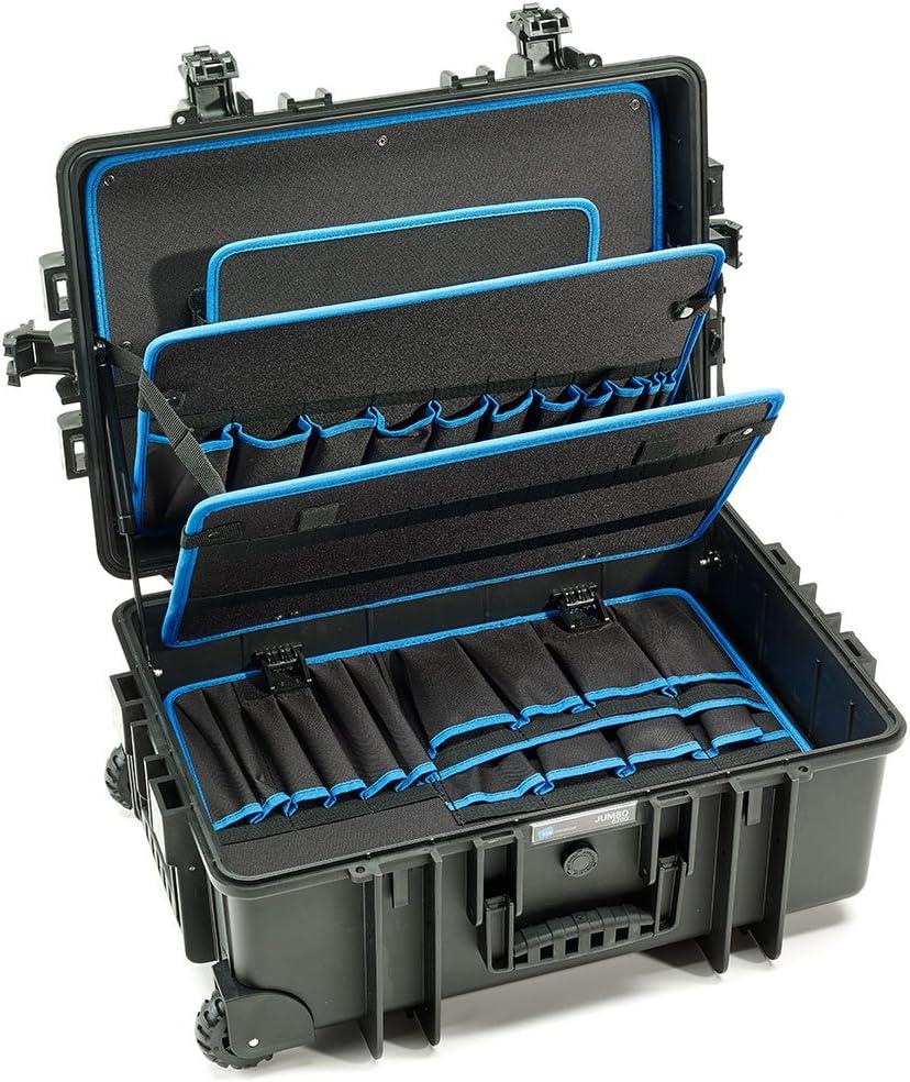 B&W International Jumbo 6700 Outdoor Tool Case with Pocket Tool Boards, Black