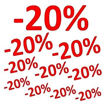 Aufkleber 20 10er Set Prozent Sale Rabatt Reduziert Schaufenster