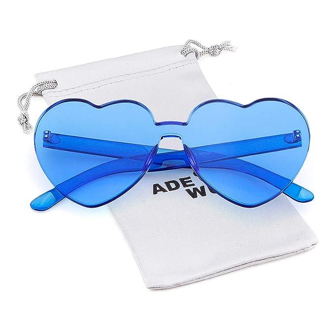 Amazon.com: Gafas de sol con forma de corazón para mujer ...