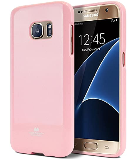 hot sale online db0de 663d4 Galaxy S7 Case, [Thin Slim] GOOSPERY [Flexible] Pearl Jelly Rubber TPU Case  [Lightweight] Bumper Cover [Impact Resistant] for Samsung Galaxy S7 (Pink)  ...