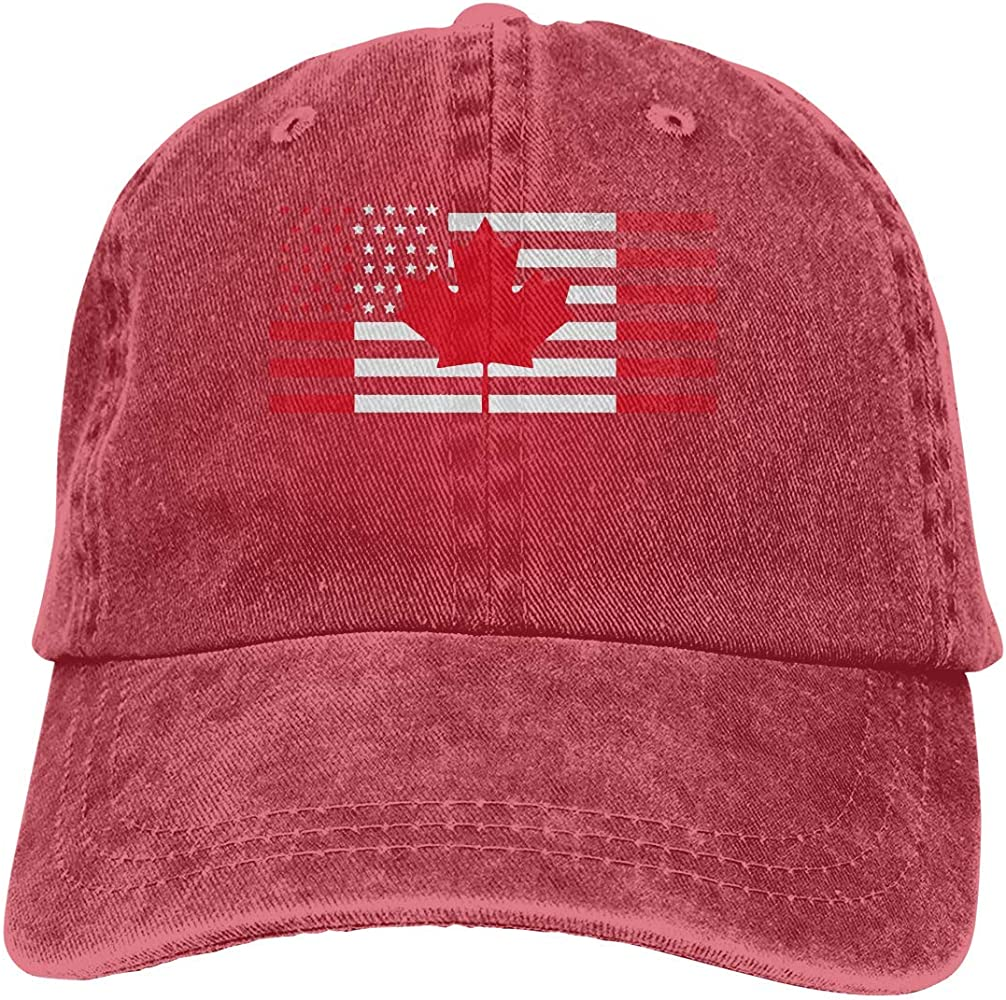 Magictop USA Canada Flag Unisex Personalizar Gorra de béisbol ...