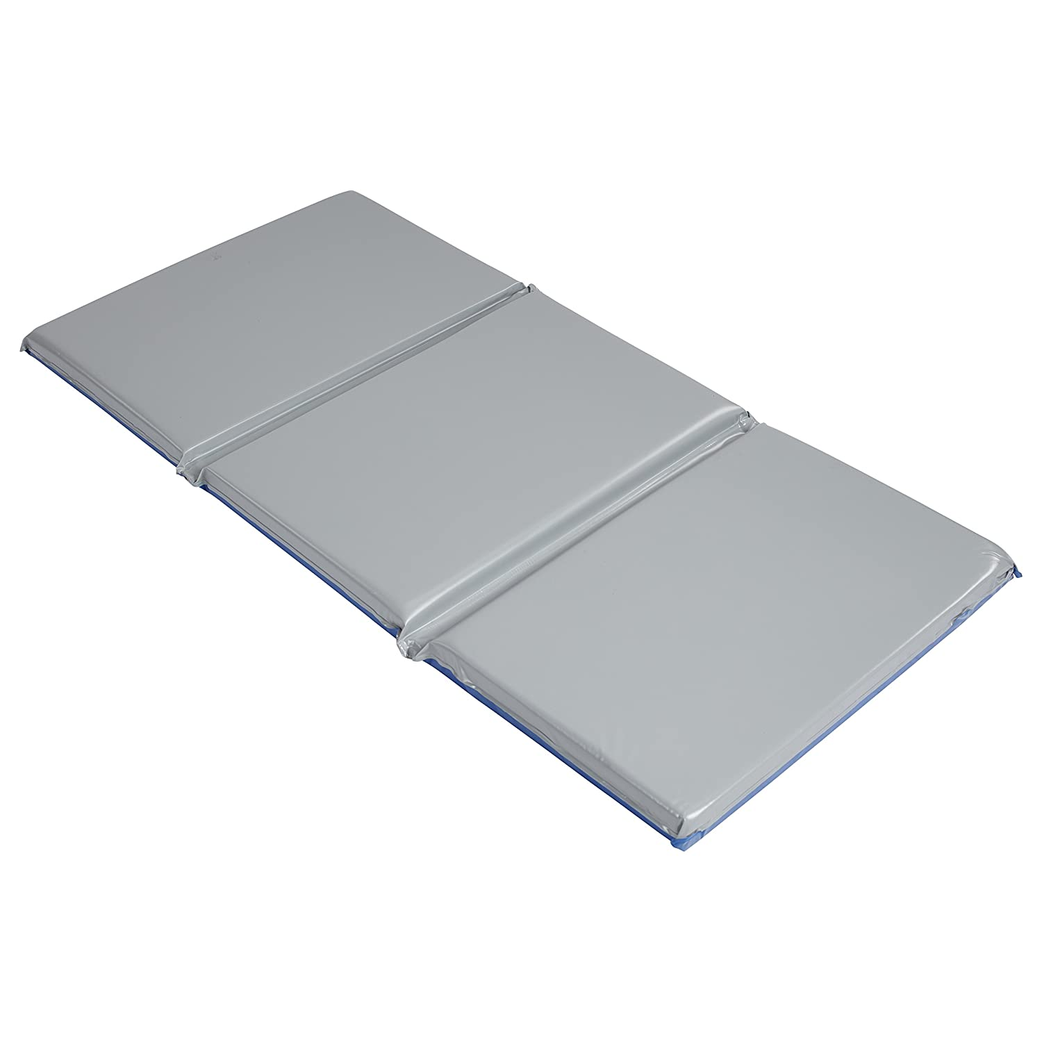 """ECR4Kids Everyday 3-Fold Daycare Rest Mat, Blue and Grey (2"""" Thick)"""