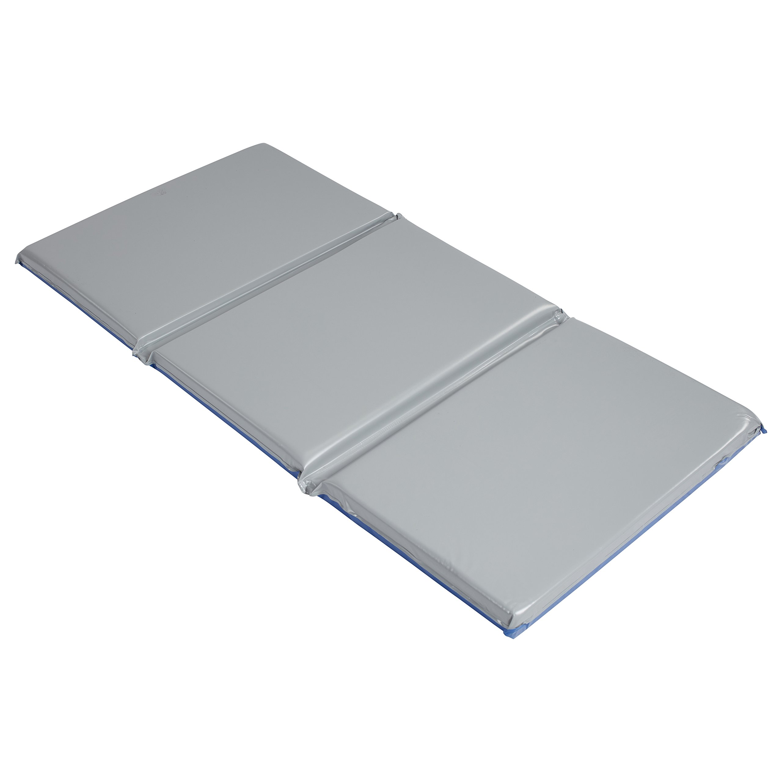 ECR4Kids Everyday 3-Fold Daycare Rest Mat, Blue and Grey (2'' Thick)