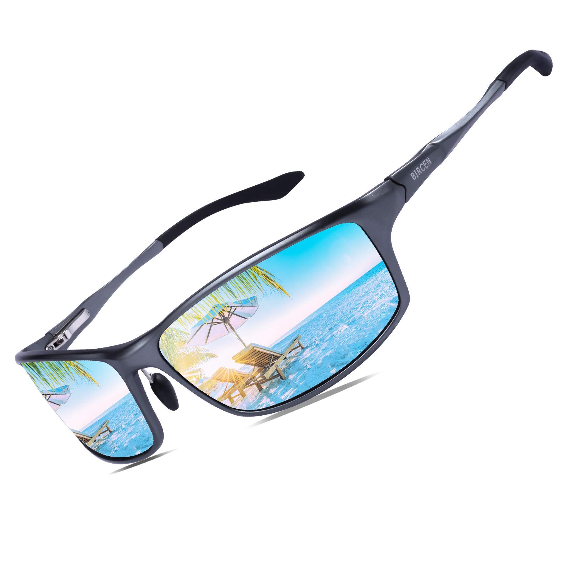 Bircen Polarized Sunglasses for Men Women UV Protection Driving Golf Fishing Sports Sunglasses by Bircen