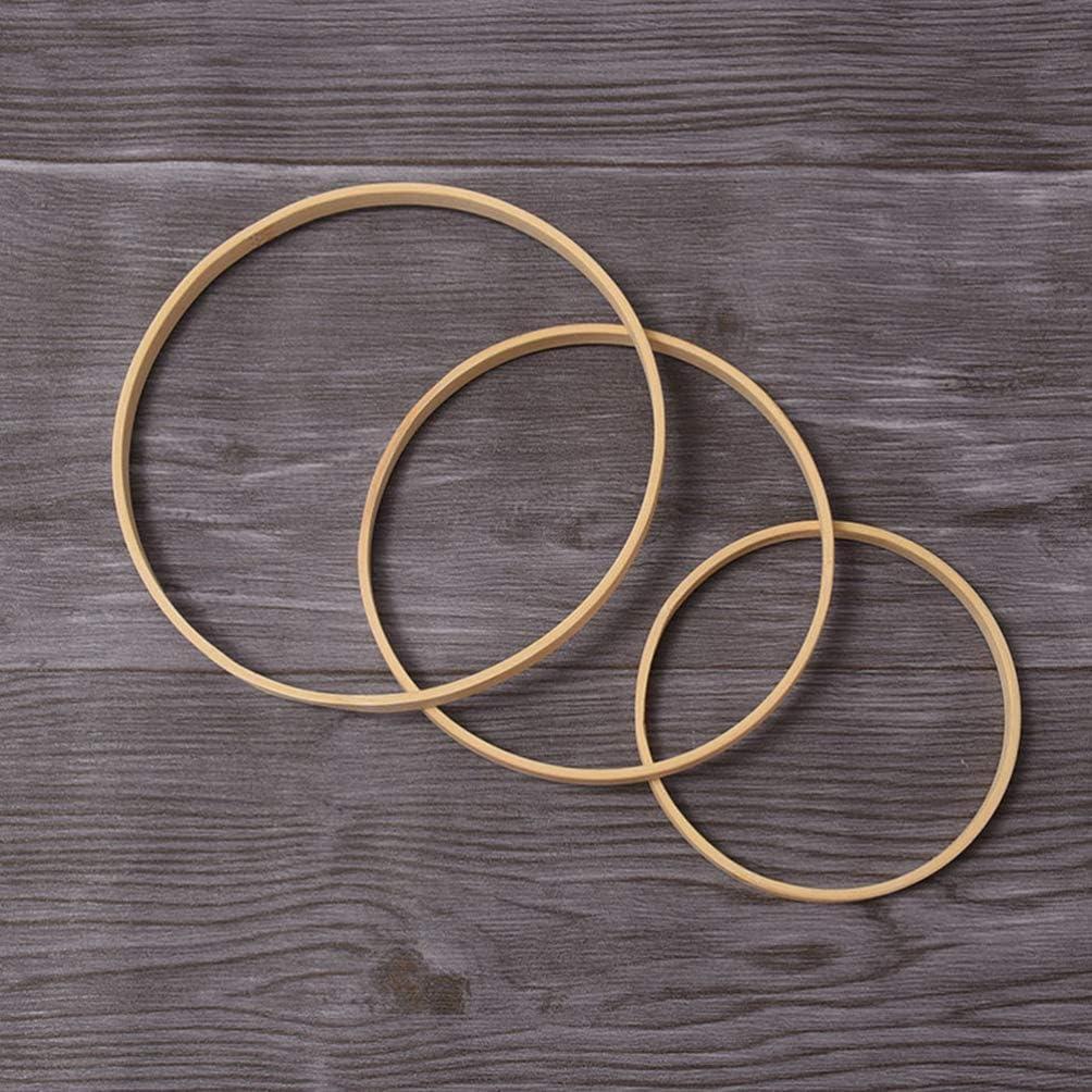 SUPVOX 12 St/ücke Traumf/änger Ringe Bambus Ringe Hoops Holz Display Rahmen Fan Rahmen DIY Runde Ringe Bastelbedarf 10 cm