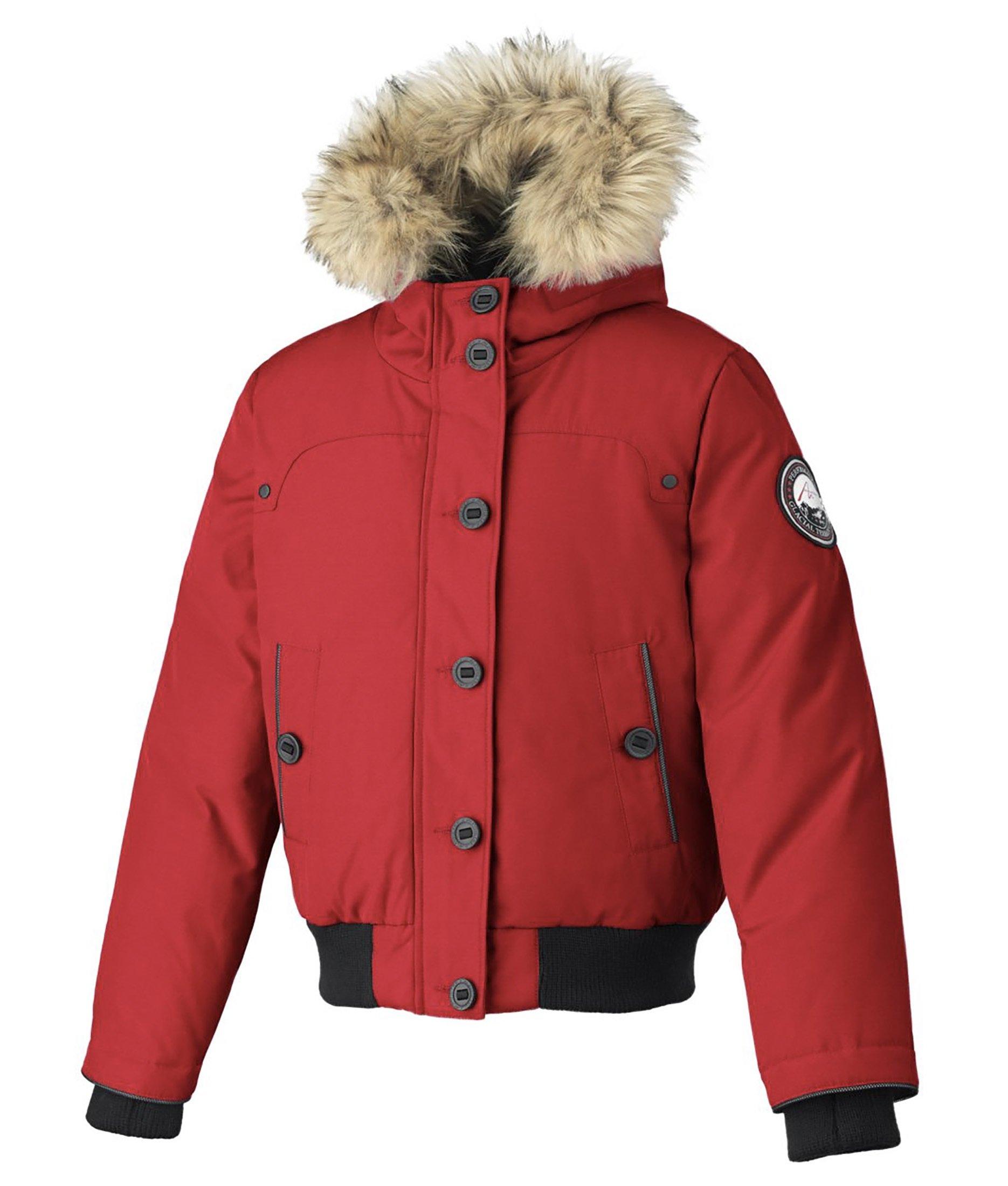 Alpinetek Big Girls' Down Bomber Jacket (Small, Crimson)