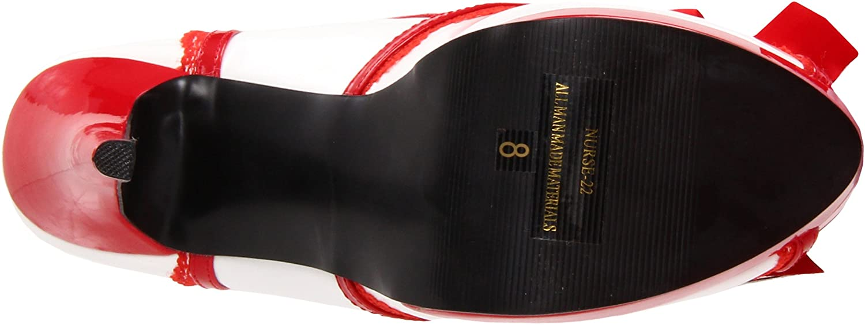 Funtasma Plateau High Heels NURSE-22 - Weiß    Rot 40 EU 1fd415