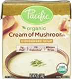 Pacific Natural Foods Organic Cream of Mushroom Condensed Soup, 12 oz. (Pack of 3)
