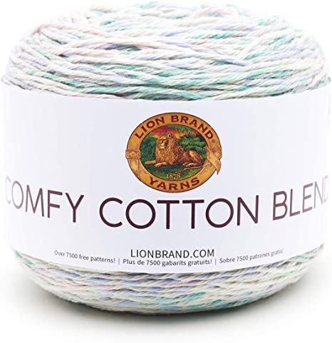 Pack of 3 Lion Brand Yarn 756-704 Comfy Cotton Blend Yarn Stained Glass