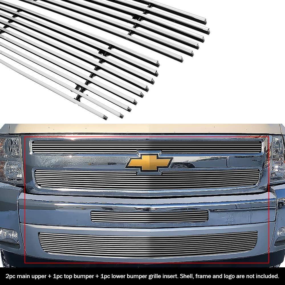 Fits 2007-2013 Chevy Silverado 1500 Lower Bumper Billet Grille Grill Insert