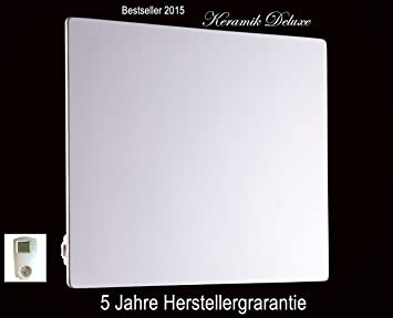 Konighaus 500 Watt Extrem Dunne Strahlheizung Wie Infrarotheizung Aus Keramik Mit Temperaturregler Thermostat Keramik Deluxe Sparsame