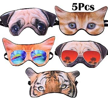 Amazon.com: Paquete de 5 máscaras divertidas para dormir con ...