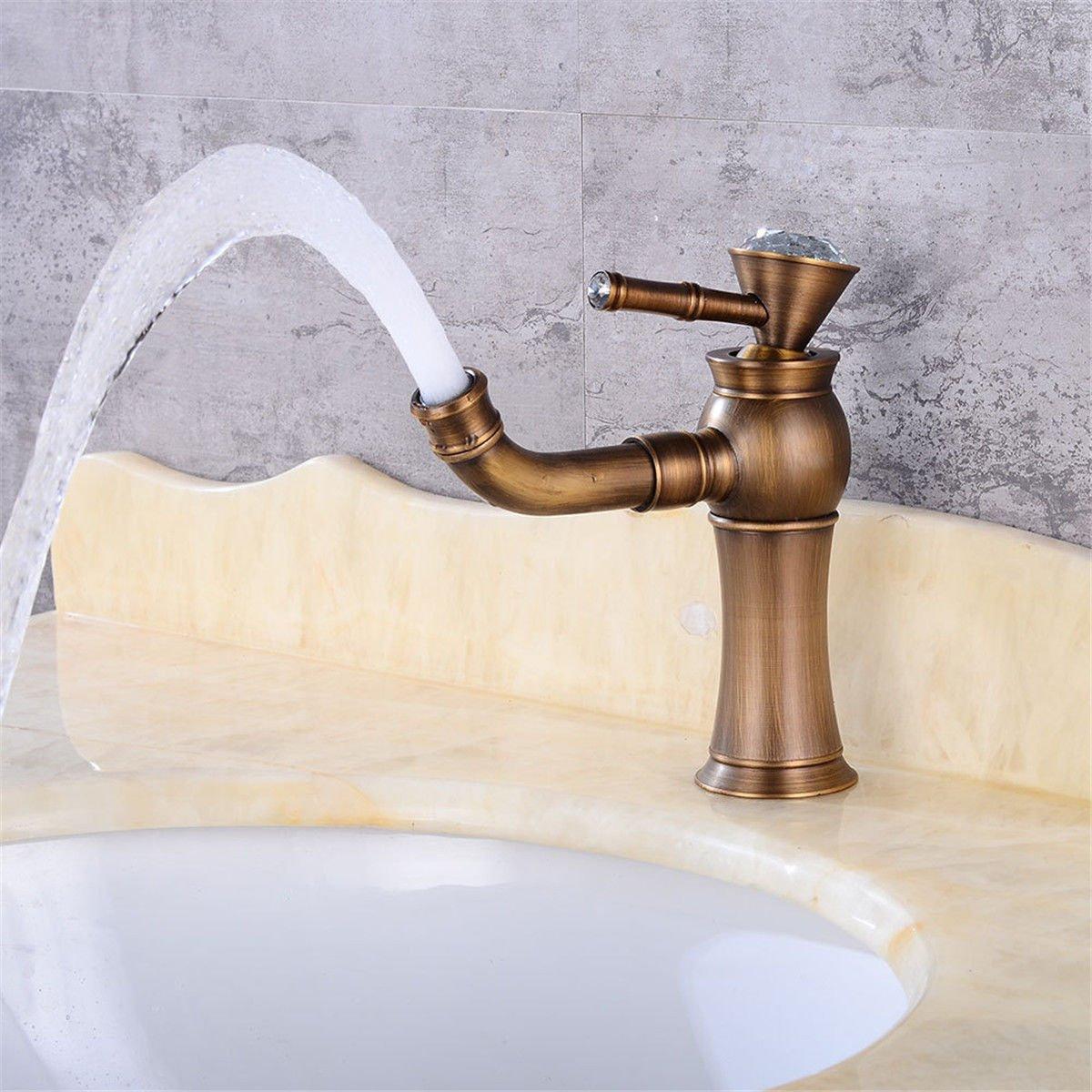 Home Tap Antique Becken Wasserhahn Waschbecken Waschbecken Wasserhahn Messing unter Zähler Becken rotierenden Wasserhahn Bad Becken Wasserhahn