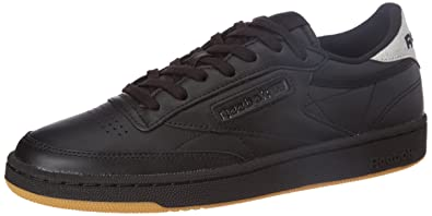 c86aa6c72e Reebok Classics Women's Club C 85 Diamond Black and Gum Leather Tennis  Shoes - 5 UK