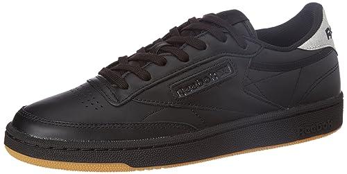 36ac56d2851 Reebok Classics Women s Club C 85 Diamond Black and Gum Leather Tennis Shoes  - 4 UK