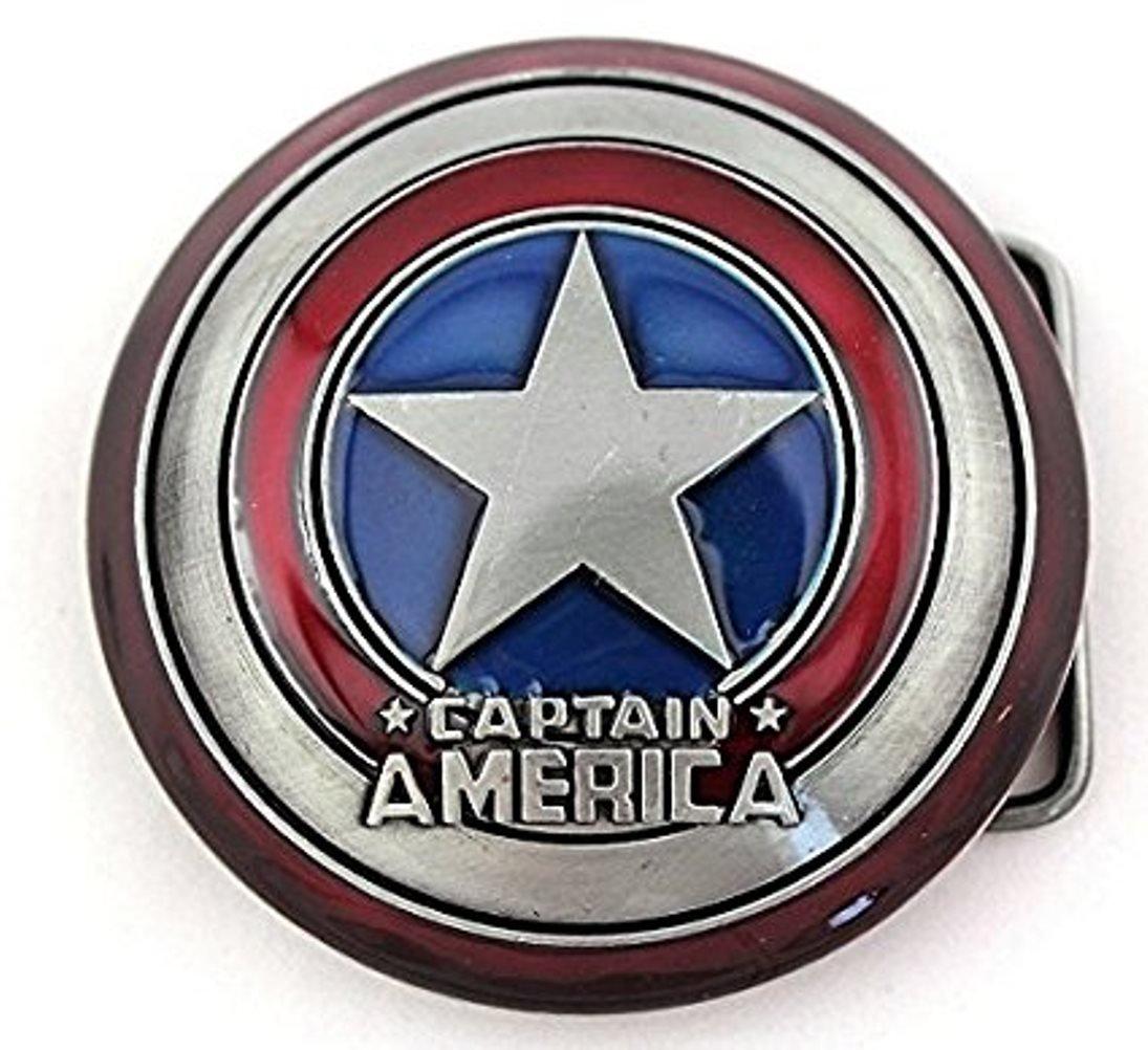 Superhero Captain America Shield Classic Mens Metal Belt Buckle