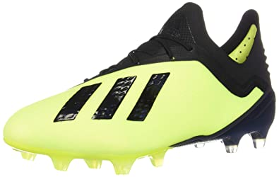 6cdd74f80 adidas X 18.1 FG Cleat Men's Soccer 6.5 Solar Yellow-Black-White