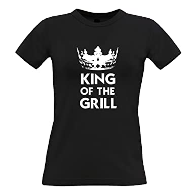 c5c9411d Funny Cooking Womens Tee King of The Grill Novelty Slogan at Amazon ...