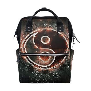 JSTEL - Bolsas para ordenador portátil, universidad, estudiante, viaje, Yin Yang, mochila escolar, bolso de hombro: Amazon.es: Electrónica
