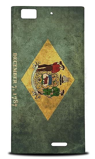 Amazon.com: Delaware Us American State Flag Hard Phone Case ...