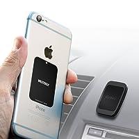 Support magnétique de voiture pour téléphone avec 6 aimants pour tenir des téléphones pesants comme Samsung S8 et S8 Plus, iPhone XR, XS, X 8, 7 et 7 Plus, Galaxy S8 et S8 Plus avec système de fixation ajustable de qualité industrielle