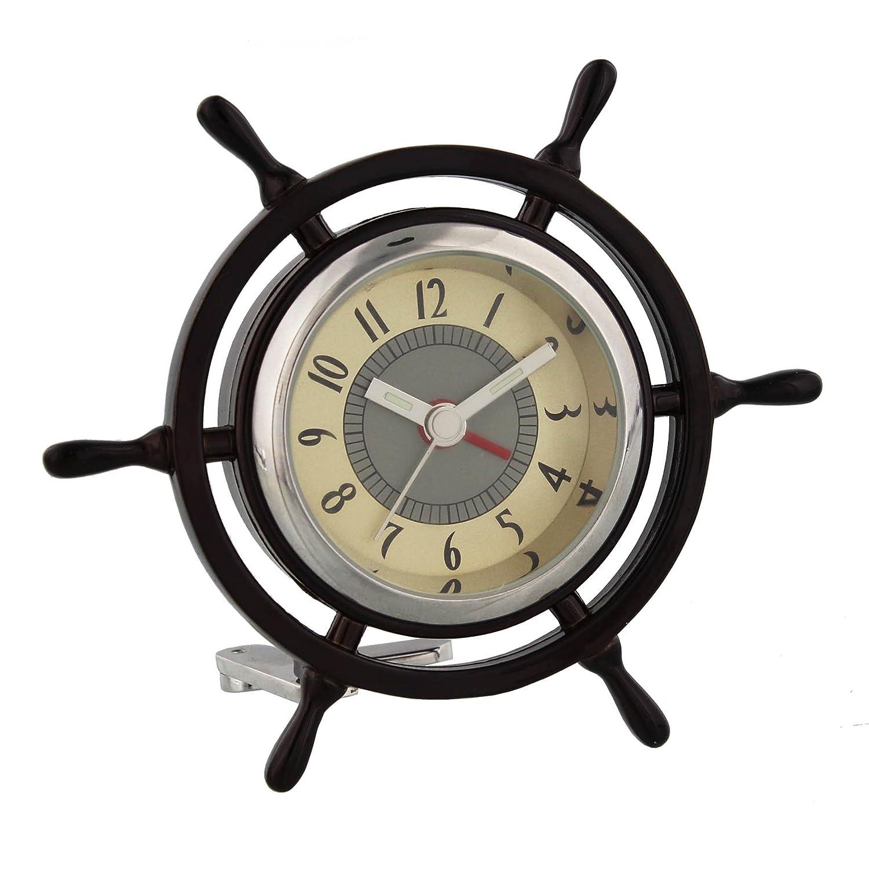 Miniature Captains Ships Wheel Novelty Ornamental Quartz Collectors Clock 9403 Wm Widdop
