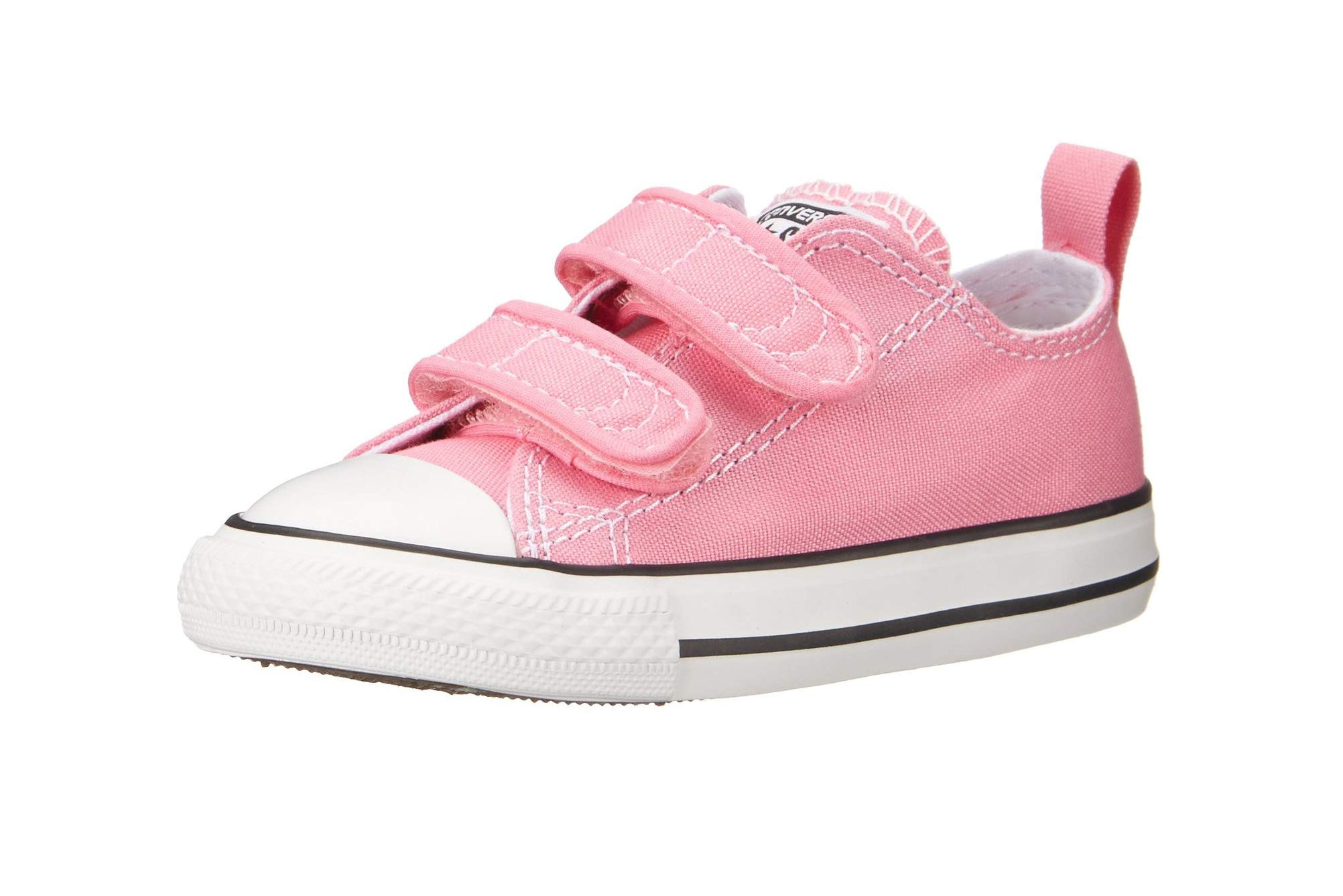 Converse Girls' Chuck Taylor All Star 2V Low Top Sneaker, Pink, 5 M US Toddler by Converse