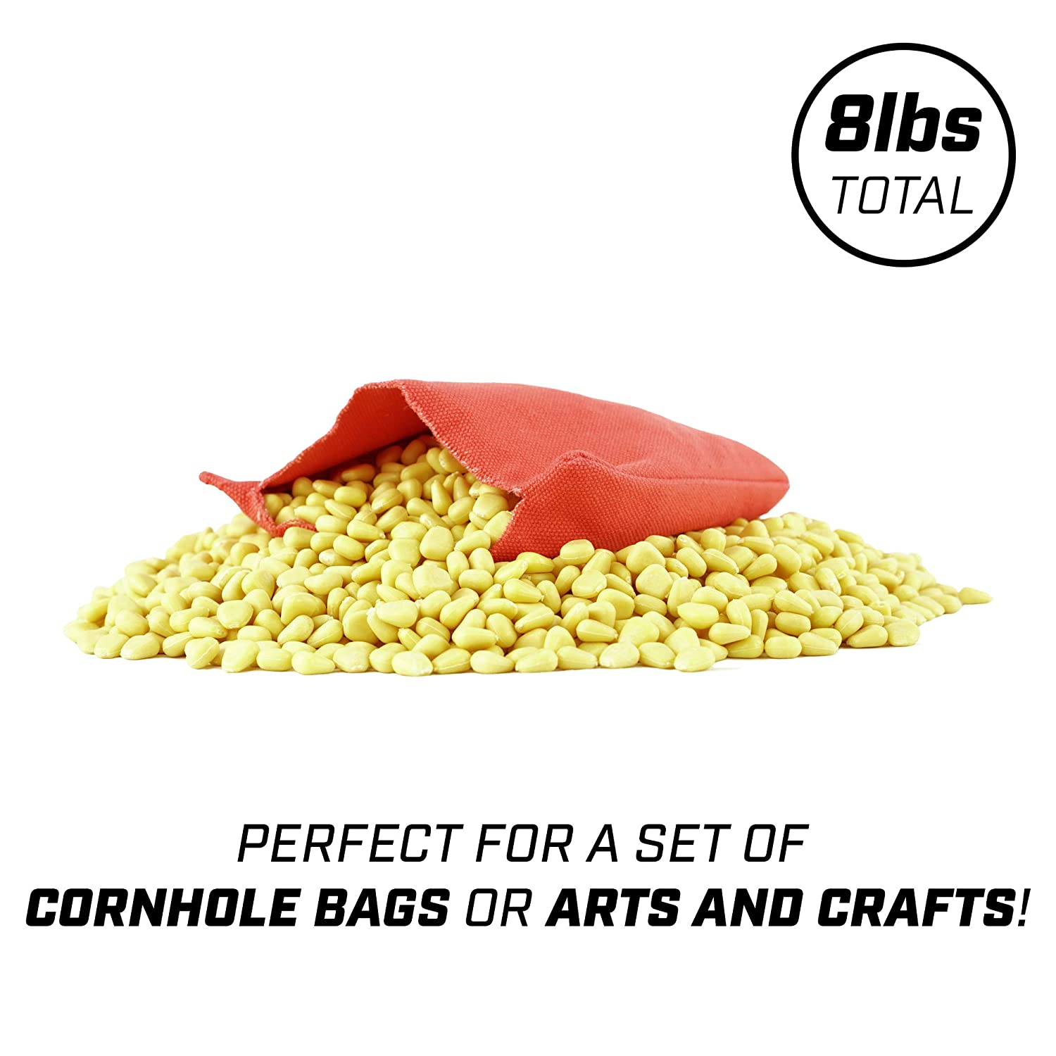 GoSports Plastic Corn Pellets 8 Lb Bulk All-Weather Filler Arts and Crafts and More Great for Cornhole Bean Bags