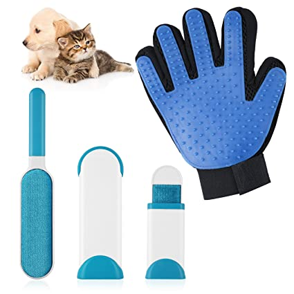 LOETAD Guante para Mascotas Cepillo Quitapelos de Perro Cepillo de Limpieza para Perros y Gatos
