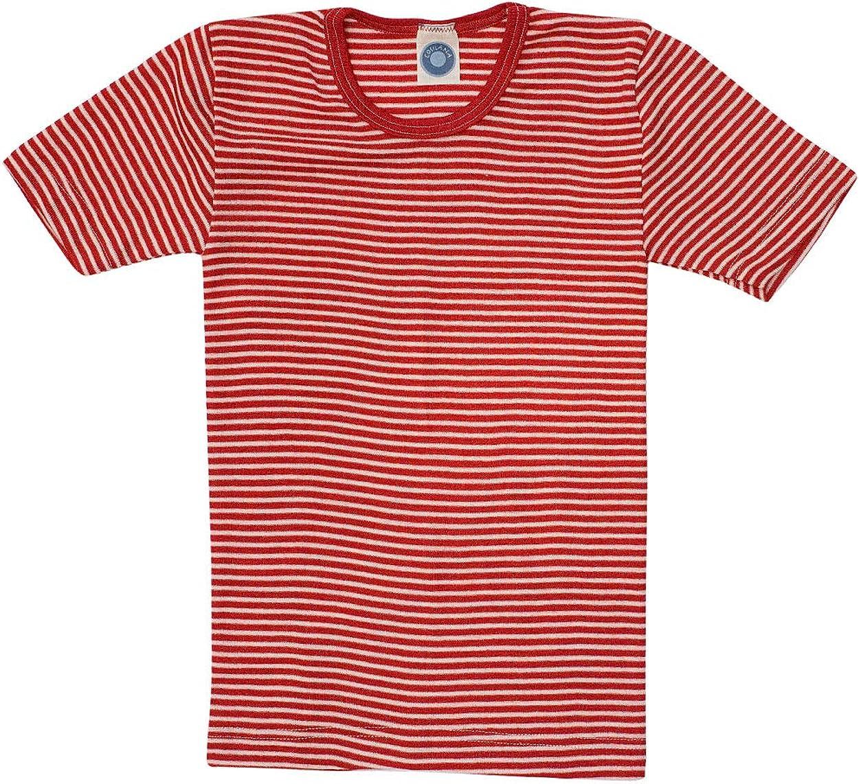 Kinder Unterhemd//T-Shirt 70/% Wolle und 30/% Seide Cosilana