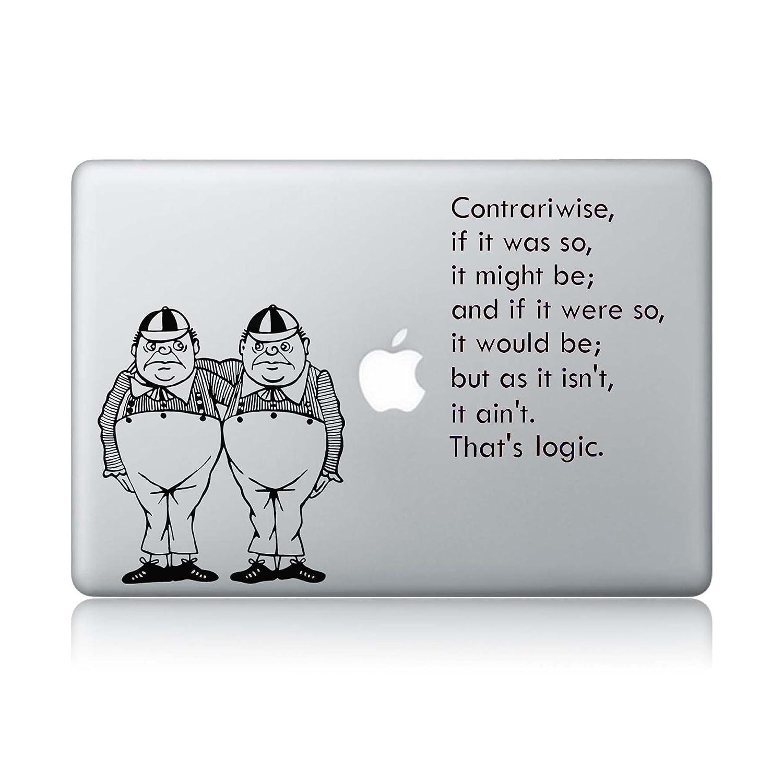 Twiddle dee s logic alices adventures in wonderland apple macbook laptop vinyl sticker decal amazon ca