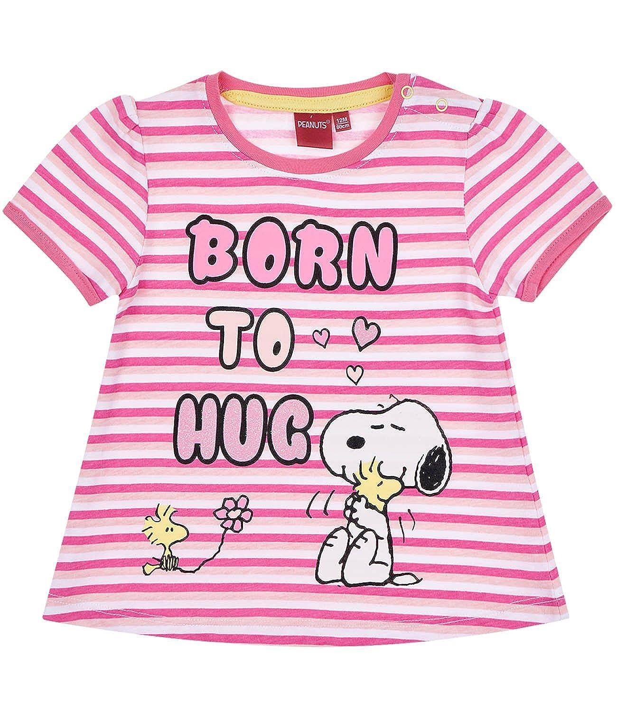 Snoopy Babies Girls Maglietta Manica Corta - Fucsia