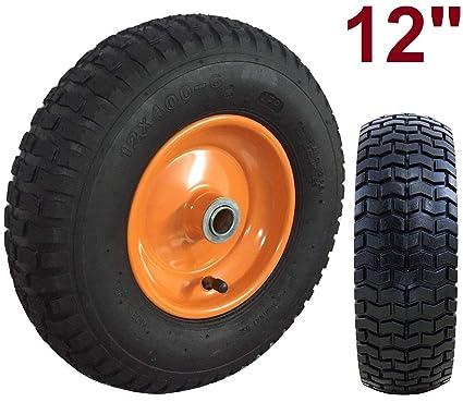 Rueda para carretilla neumática con Rodamiento 12x4.00-6 Plataformas Carros