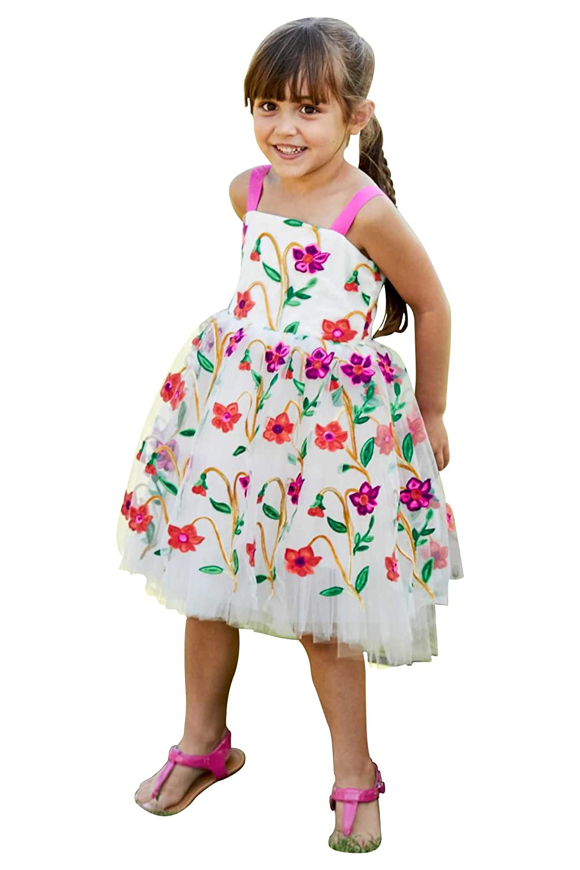 63648ed4d7e7d Amazon.com: Chasing Fireflies Girls Pop Flowers Dress: Clothing