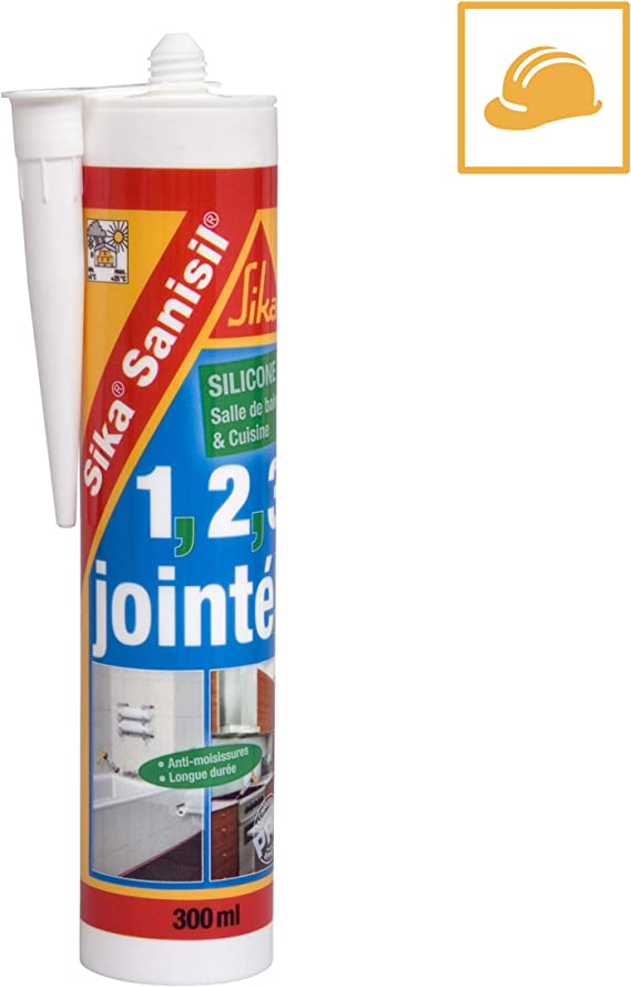Sika Sanisil Joint Silicone Anti Moisissure Spécial Salle De Bain Et Cuisine 300ml Blanc