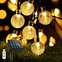 Lichtsnoer op Zonne-energie voor Buiten, solar tuinverlichting, 50 leds, 8 meter, 8 modi, IP65 waterdicht, buiten…